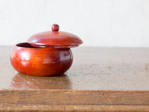 Asian antique wooden container Stock Photo