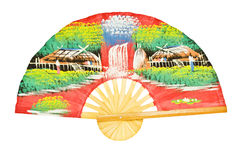 Asian antique wooden fan Royalty Free Stock Photos