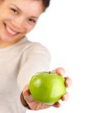 Asian Apple woman Royalty Free Stock Photos
