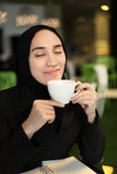 Asian Arabic Worker in a cafe Stock Photography