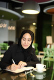 Asian Arabic Worker cafe Stock Photography