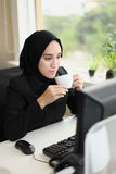 Asian Arabic Worker Royalty Free Stock Photos