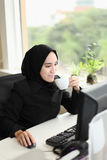 Asian Arabic Worker Royalty Free Stock Images