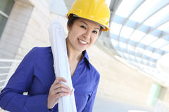 Asian Architect on Construction Site Stock Image