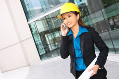 Asian Architect Woman at Work Royalty Free Stock Image