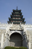 Asian architecture ancient tower Royalty Free Stock Images