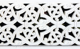 Asian architecture detail. Made gypsum Stock Photo