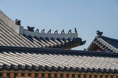 Asian architecture roof detail Stock Photo