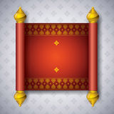 Asian art background for cover design. Asian Art Background, Thai art pattern vector for cover design, page design, poster, card Stock Image