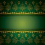 Asian Art Background, Thai Art Pattern Vector. Stock Photos