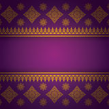 Asian Art Background, Thai art pattern vector. Royalty Free Stock Photography
