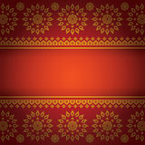 Asian Art Background, Thai art pattern vector. Royalty Free Stock Images