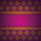 Asian Art Background, Thai art pattern vector. Stock Images