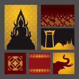 Asian art background. Royalty Free Stock Photos