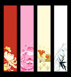 Asian art banners Royalty Free Stock Image