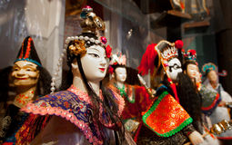 Asian art figure dolls Royalty Free Stock Image