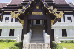 Asian art temple church. Architecture of Thailand temple monastery Royalty Free Stock Photo