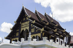 Asian art temple church. Thailand art temple church architecture with blue sky background Stock Images