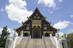 Asian art temple church. The art of thailand temple monastery architecture Stock Photo