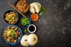Asian assorted food set Stock Photos