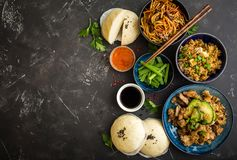 Asian assorted food set stock image