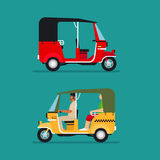 Asian auto rickshaw taxi royalty free illustration