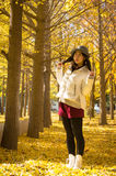 Asian autumn happy young girl 4 Stock Photo