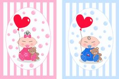 Asian babies Royalty Free Stock Images