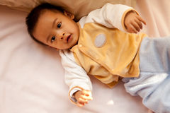 Asian baby. In beautiful morming light Stock Photography