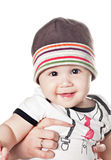 Asian baby boy. On a white background Royalty Free Stock Image