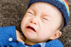 Asian baby boy crying Stock Image