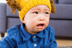 Asian baby boy crying Stock Images
