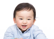 Asian baby boy excited Royalty Free Stock Images