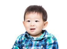 Asian baby boy feeling excited Royalty Free Stock Image