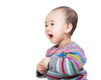 Asian baby boy feeling excited Stock Images