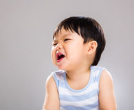 Asian baby boy with funny face Stock Photo