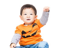 Asian baby boy with halloween dressing Stock Image
