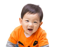 Asian baby boy with halloween party dress Royalty Free Stock Image