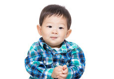 Asian baby boy isolated. On white Royalty Free Stock Photography