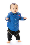 Asian baby boy learn to walk Royalty Free Stock Image