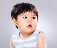 Asian baby boy looking another side Stock Photos