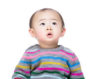 Asian baby boy looking up Royalty Free Stock Images