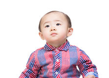 Asian baby boy looking up Stock Image
