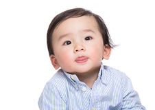Asian baby boy making funny face Royalty Free Stock Image