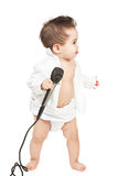 Asian baby boy with microphone Stock Photos