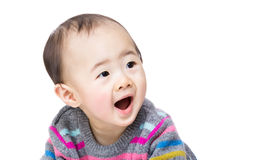 Asian baby boy screaming Royalty Free Stock Image