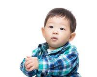 Asian baby boy shake hand Royalty Free Stock Photo