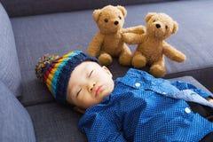 Asian baby boy sleeping Royalty Free Stock Photo