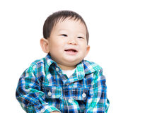 Asian baby boy smile. Asia baby boy isolated on white Royalty Free Stock Images