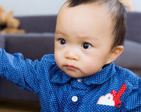 Asian baby boy. Staring at something Royalty Free Stock Images